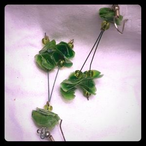 Jewelry - Original artists green earrings